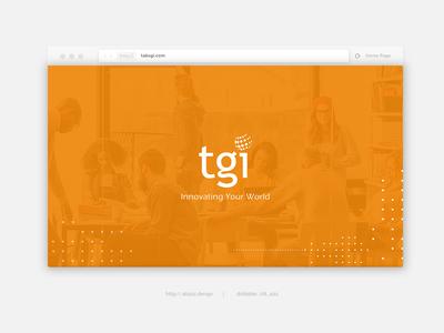 landing page design safari browser tgi digital agency it design web ui website landing page