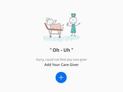 Empty State health care giver app ios no data add no found empty