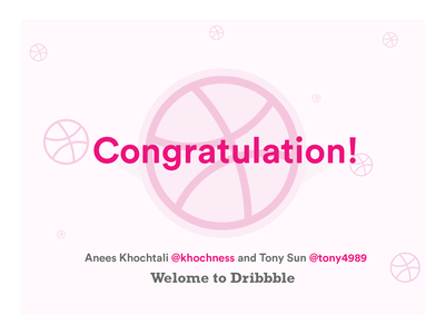 Dribbble New Players Drafted congratulation dribbble thanks debut welcome invite winners