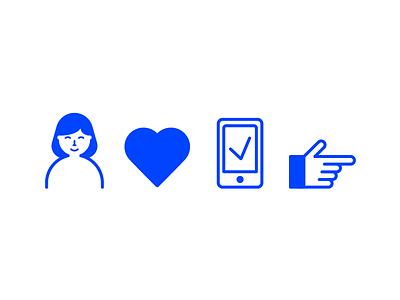 Basic Icons sleek monotone iconography illustration pictograms icons
