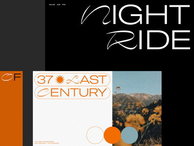 Typography Exploration: Nostra & GT America layout page website art direction minimal design web ui typography