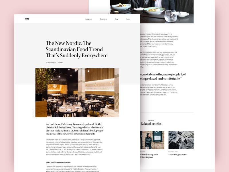 article page layout by ana sakač dribbble dribbble