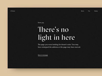 404 Page — UI Weekly Challenges-Season 02 / Week [2/10] typography 404 design web ui
