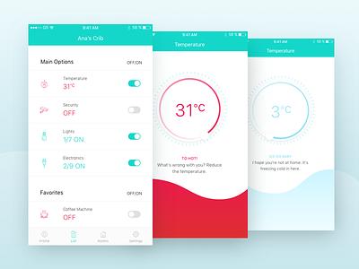 Smart Home—UI Weekly Challenges-Season 02 / Week [8/10] smart home typography app ios ux ui