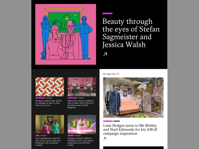 Split Screen Layout art direction website minimal design typography web ui
