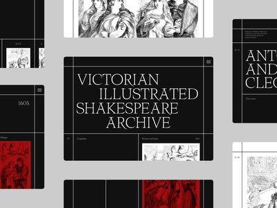 Shakespeare Illustration Art Direction layout page art direction website minimal design typography web ui