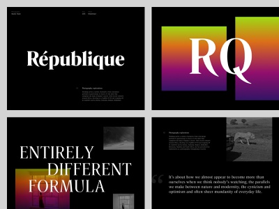 Typography Exploration Rando & Rando Display layout page clean art direction website minimal design typography web ui