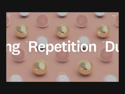 Intro animation + C4D renders