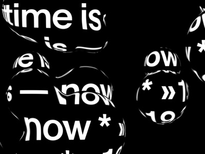 Type in Motion / no.1 black and white aftereffects animation art direction design typography