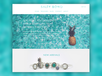 Salty Boho Website Design - Landing Page