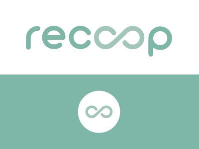Logotype Recoop Vitamins minimalistic stationary product print mockup logotype flat logo branding