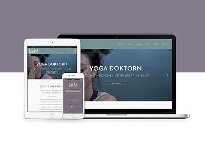 Yogadoktorn Website wordpress web design art simple minimalist ui ux website