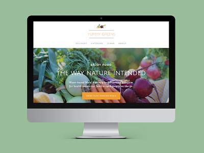 Yummy Greens - Website web design fruits vegan squarespace simple minimalist ui ux website