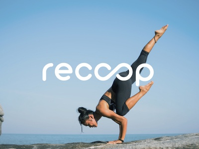 Recoop Logotype health brand logo flat vitamins simple print branding logotype