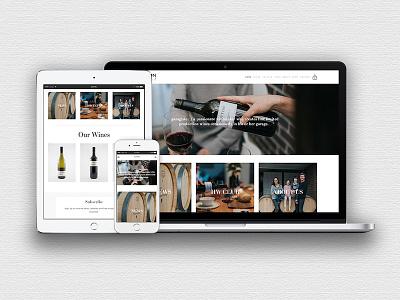 Hutton Wines squarespace web design art simple minimalist ui ux website