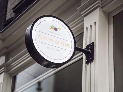 Yummy Greens Logo - Streetsign