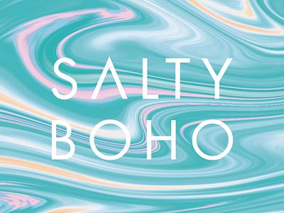 Salty Boho Logotype water rings ocean design pattern flat print branding logotype