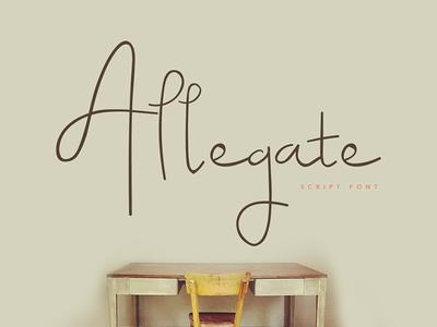 Allegate Script Font