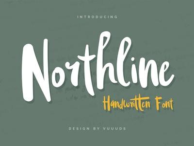 Northline handwritten multilingual vector typography font lettering script
