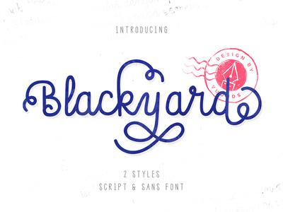 Blackyard Script & Sans