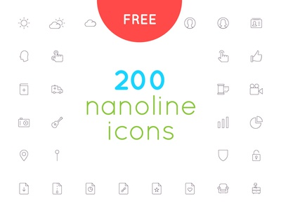 Free download 200 nanoline icon set website web app mobile ux ui icon vector minimal line download free