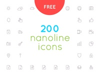 Free download 200 nanoline icon set
