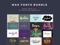 Max Fonts Bundle