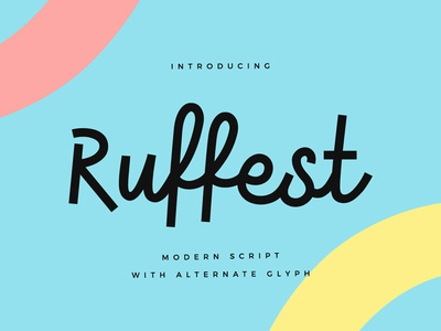 Ruffest quote graphic design typography lettering simple clean font script modern
