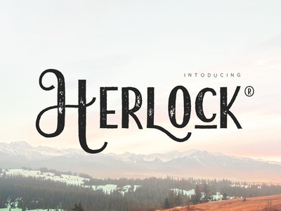 Herlock modern display font clean simple lettering typography graphic design quote