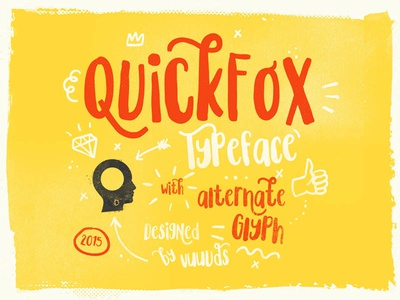 Quickfox quote graphic design typography lettering simple clean font poster typeface display modern