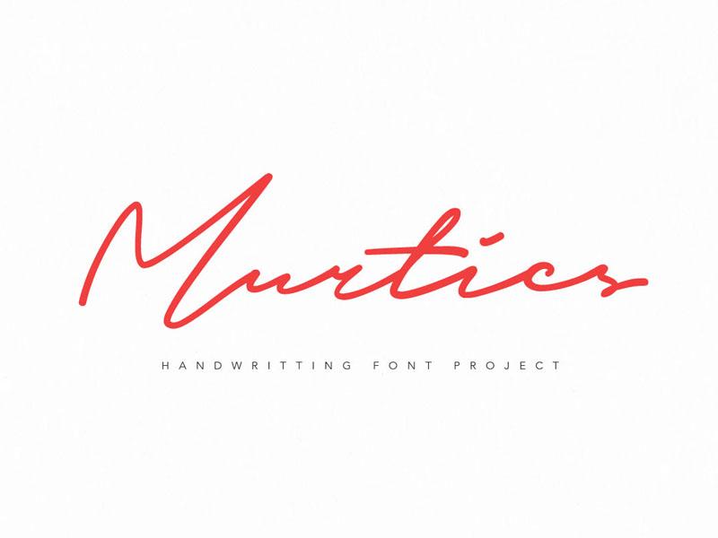 Murtics Font simple quote branding signature brand ligature lettering font clean minimalist