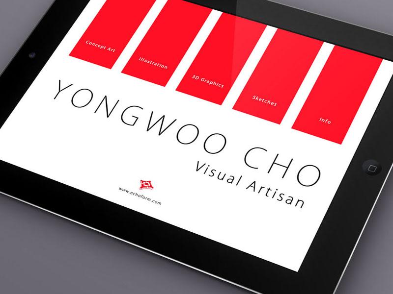iPad Foliobook Cover Landscape ipad foliobook ui design menu portfolio type