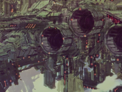 Close Up WIP SciFi Digital Painting