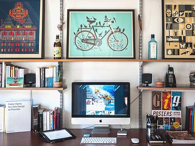 My Workspace workspace work designer desk imac posters