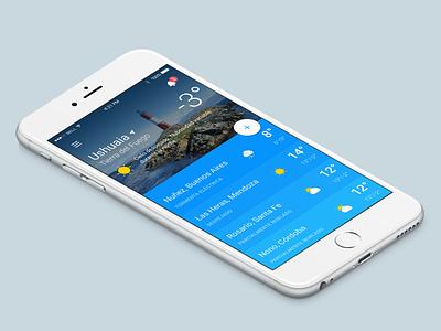SMN Weather App. light day clouds rain iphone ios app argentina clima sun weather