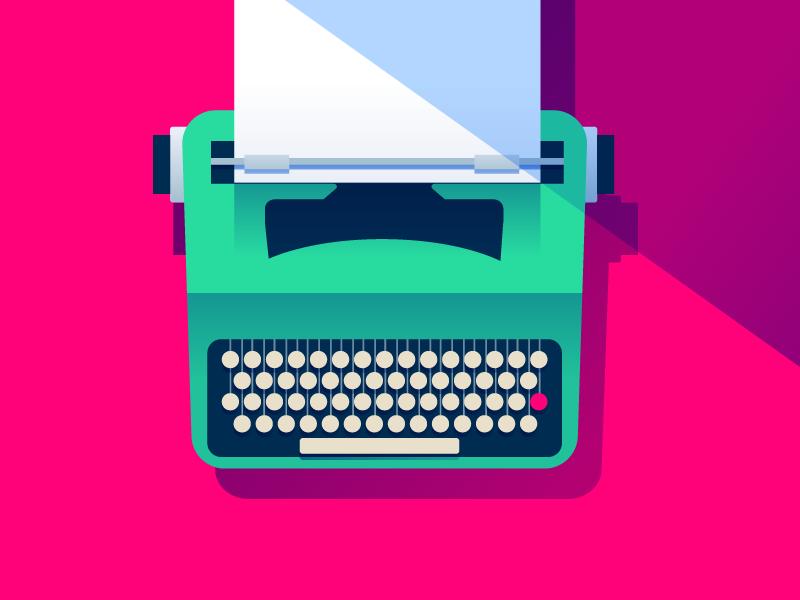 Typewriter. illustration olivetti typewriter
