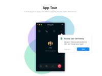 Phone app. Tour