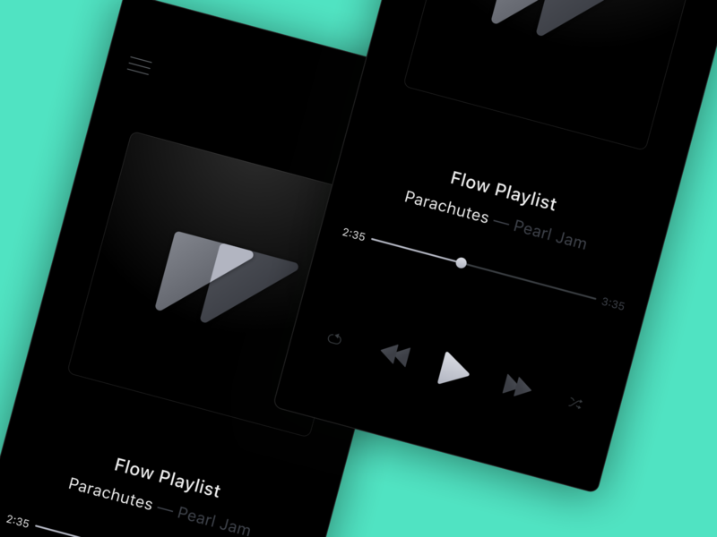Music App. Dark Mode. ios dark mode animation flow ui kit ui sketch music app music
