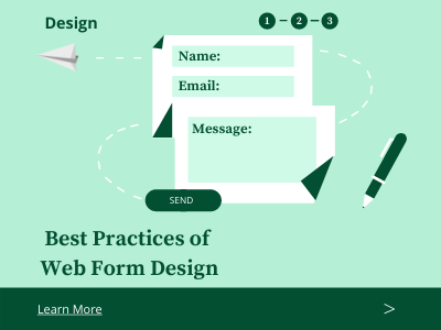 Web/Contact Page Design branding graphic design