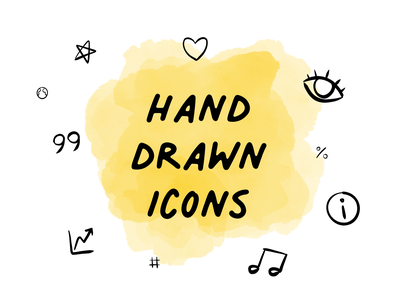 Hand drawn icons icon set icons set iconography icon design sketchy ink sketch doodle handmade hand-drawn iconset icons