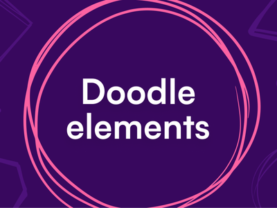 Doodle elements icon illustration design elements elements doodle vector hand-drawn