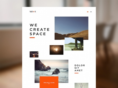 I (heart) asymmetry clean website layout asymmetry orange