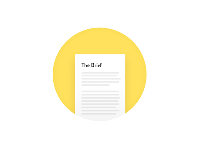 Brief Icon yellow brief material icon