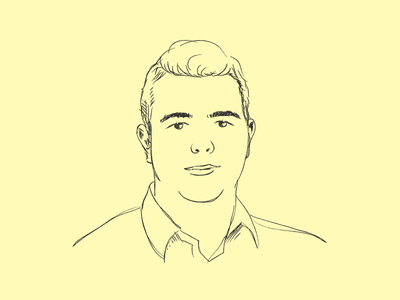 team portrait #1 line vector drawing portrait