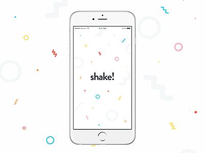 sneak peek particle branding loading screen app design shake