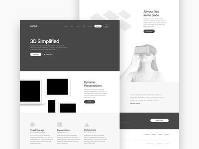 Wireframe simple layout wireframe
