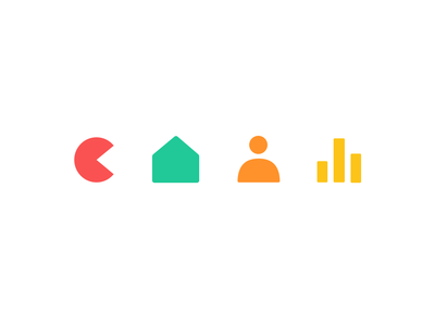 bubble icons material graph user home pacman icon cute