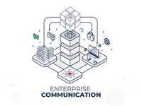 Enterprise Communication Illustration