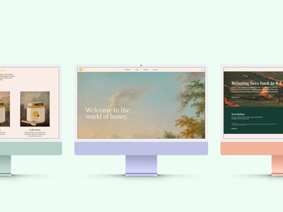 Miel Honey branding design ux ui graphic design