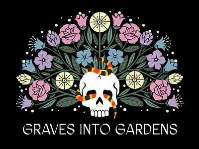 Graves Into Gardens design illustration